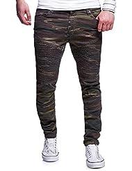 MT Styles Biker pantalon Slim Fit Camouflage RJ-3163