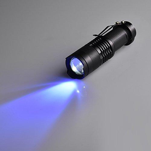 UV-Taschenlampe Taschenlampe Licht für Pet Urin Erkennung LED UV-Detektor Hund Flecken Bett Bug auf Teppich Teppiche Boden Scorpion Mini Handheld lights365nm violett Multifunktions-Lampe Fluoreszierend Agent