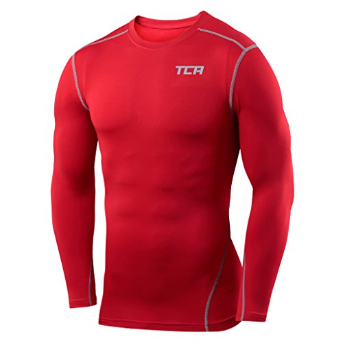 Men's Boys TCA Pro Performance Compression Base Layer Long Sleeve Thermal Top Test