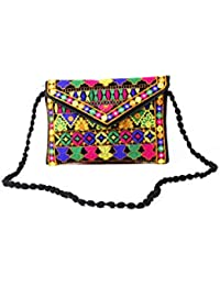 Homeart9 Women's Sling Bag (Embridered Handicraft Traditional Sling Bag,Multi-Coloured) - B077HX8NG2