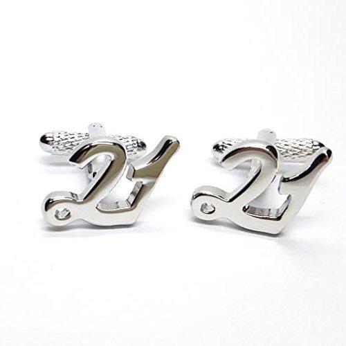 21 boutons de manchette en boîte cadeau Design pour 21e anniversaire - livrés Londres ck966