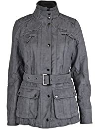 Womens Vintage RAW Style Suede Military Jacket