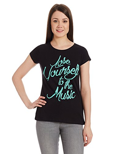 People Women's Graphic Print T-Shirt (P20401105032100_Black_XXL)  available at amazon for Rs.149