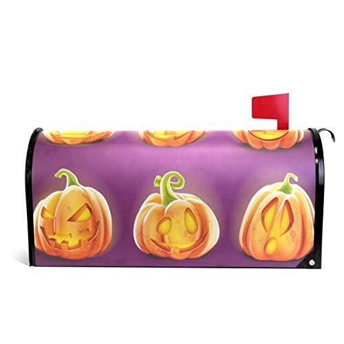 Alaza(mailbox cover) WOOR Kürbis-Set für Halloween, magnetisch, Standardgröße, 45,7 x 52,1 cm 25.5x20.8 inch Oversized Multi -