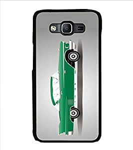 FUSON Green Sports Car Graphic Designer Back Case Cover for Samsung Galaxy On5 Pro (2015) :: Samsung Galaxy On 5 Pro (2015)