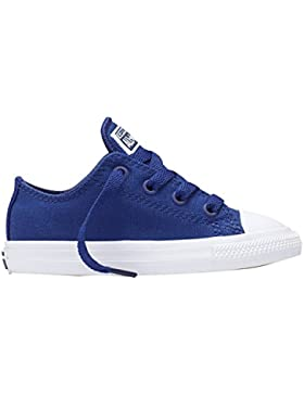 Converse Chuck Taylor All Star II OX Sodalite Blue Textile Baby Trainers