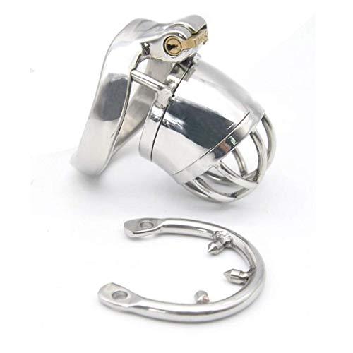 BBG Adult Masturbátion Sěx Toys-Erhältlich in 3 Größen mit gebogenem Sprengring Edelstahl Anti-Off Ring Armor Lock,M -