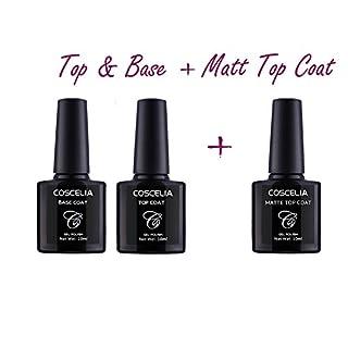 Coscelia Base Coat + Top Coat+ Matt Top Coat Set