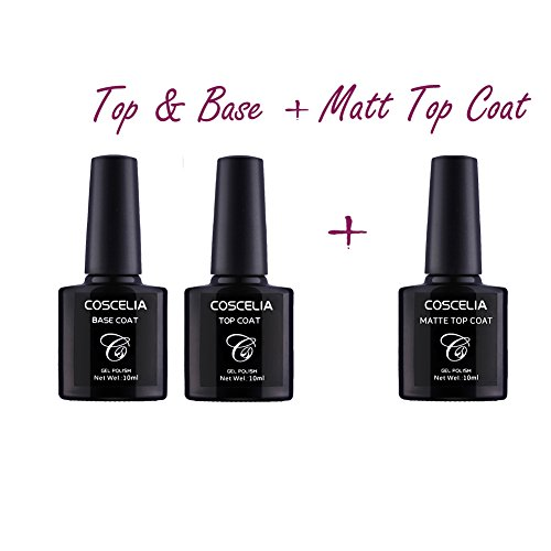 Coscelia Base Coat + Top Coat+ Matt Top Coat Set