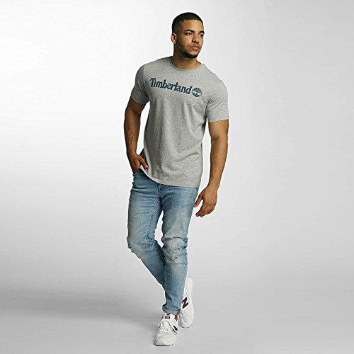 Timberland Herren T-Shirt SS Dnst Camo Prnt BR Grau