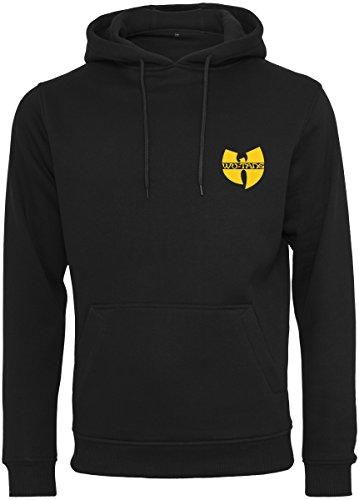 Wu Wear Herren Chest Logo Hoody Kapuzenpullover, schwarz (black), L Schwarz Logo Hoody