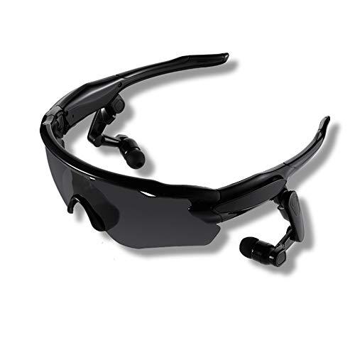 Sport Smart Bluetooth Sonnenbrille UV-Schutz Polarisierte Linse Handfree Talk Music Sonnenbrille mit Wireless Sport Stereo Bluetooth Headset für Sport Radfahren,Black