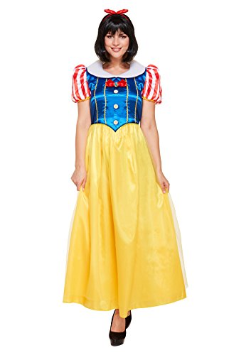 Ladies Fancy Dress Snow Princess Costume (One Size)