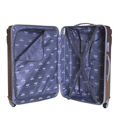 Slimbridge Fusion Set of 2 Super Lightweight Hard Shell Luggage Bags - Champagne