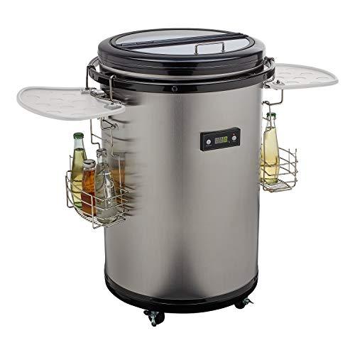 MEDION Party Kühlfass (Mini-Kühlrschank, Getränkekühlschrank, 48 Liter Nutzinhalt, Glasdeckel, LED Display, 0-16° C, MD37354)