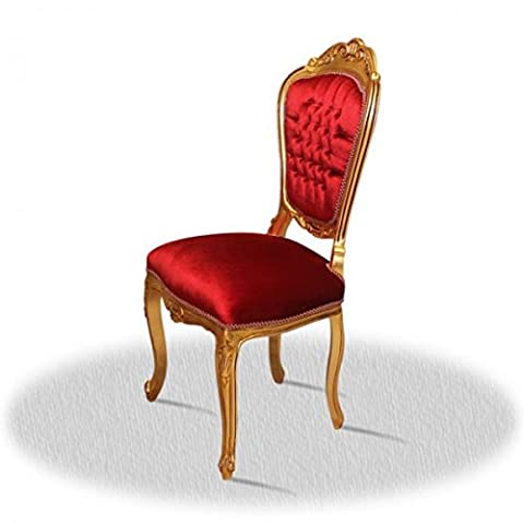 Chaise baroque Louis XV rocaille style antique AlCh0024GoRd