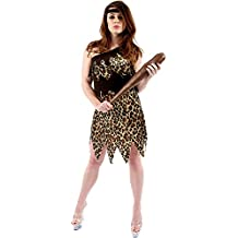 Ladies Sexy Cave Girl Cavewoman Jungle Outfit Fancy Dress Costume