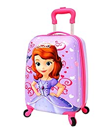 SGL Polycarbonate 18-inch Purple Fairytale Printed Pattern Waterproof Boy's and Girl's Trolley Bag with Cabin