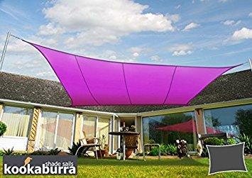 Kookaburra Voile d'Ombrage Imperméable 4,0m × 3,0m Rectangle Violet