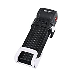Faltschloss Trelock Trigo m.Halter FS 300/85 schwarz m.Kstst-halter weiß
