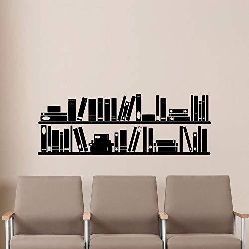 Geiqianjiumai Libros Decorativos Biblioteca de Lectura estantería Libros Libros librería Pegatinas de Pared vinilos Adhesivos 57cm x 20cm