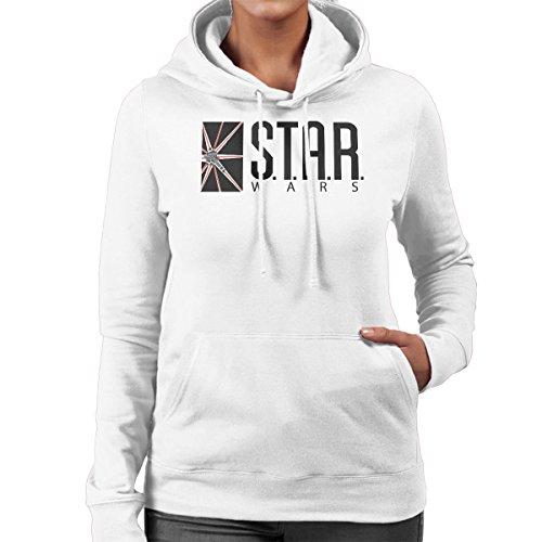 Star Wars Labs Flash DC Comics Black Women's Hooded Sweatshirt White