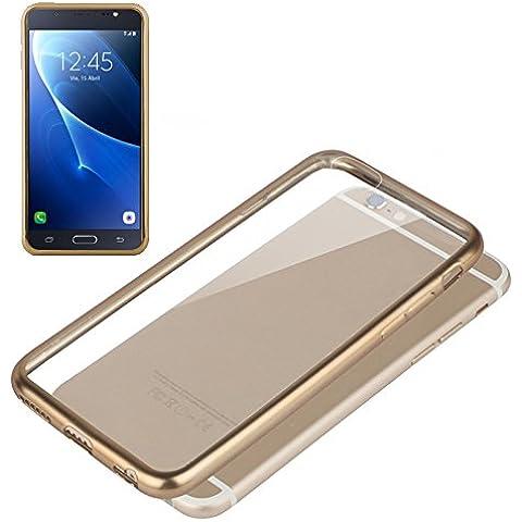 Funda Carcasa Premium para Samsung J710 Galaxy J7 (2016) Borde Metalizado (Dorado)