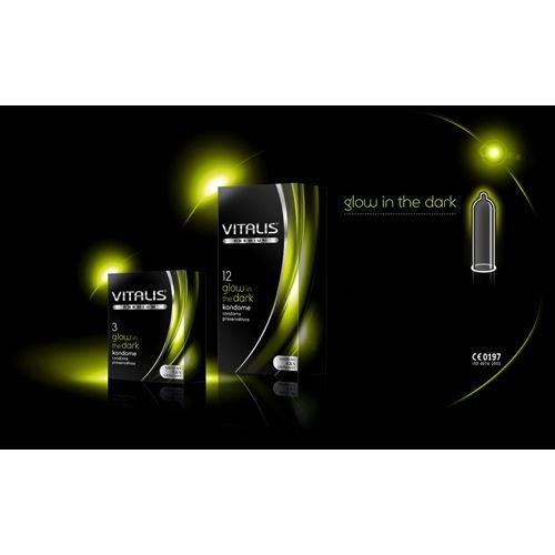 Vitalis glow in the dark, 3er Pack Kondome, 3 Stück