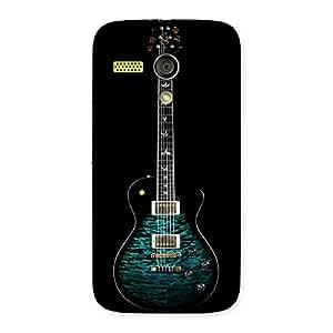 Greenish Print Guitar Back Case Cover for Moto G