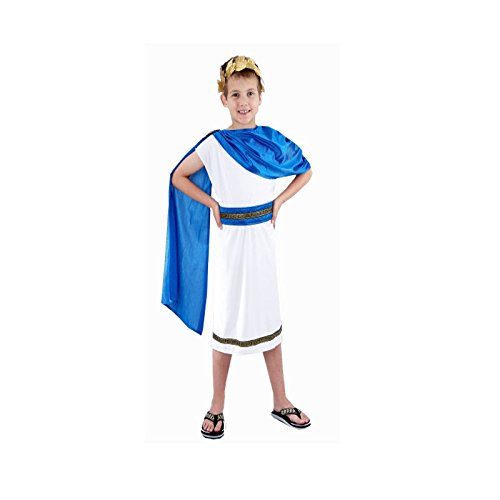 Kids Boys Roman Emperor King Toga Caesar Greek Childs Fancy Dress Costume Outfit World Book Day/Week (10-12 years) by Henbrandt