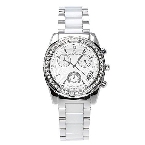 Stella Maris - STM15L9 - wrist watch for women - quartz movement analog display - white dial - white ceramic bracelet