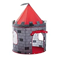 deAO Red Castle Quick Assemble Play Tent for Kids - Pop Up Design Easy Assemble Includes Handy Storage Bag
