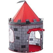 deAO Tienda Pop-Up Con Diseño De Castillo Rojo – Diseño Plegable Autoarmable – Actividad