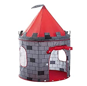 tienda: deAO Tienda Pop-Up Con Diseño De Castillo Rojo – Diseño Plegable Autoarmable – A...