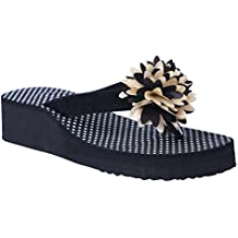 HD Casual Rubber Flip-Flop Slippers For Women (Black)