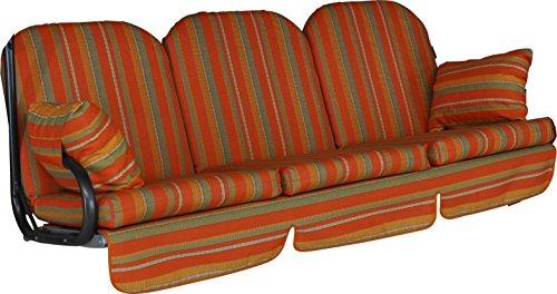 Angerer 1018/073 Deluxe Schaukelauflage Marokko, Terracotta, 3-Sitzer