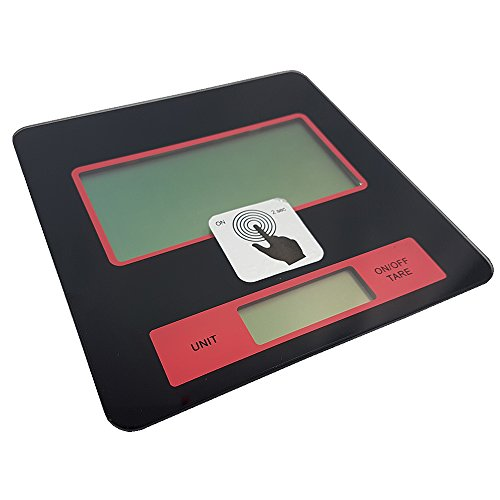 Power-Preise24 Digitale Küchenwaage mit Wandhalterung Digitalwaage 2 g - 5000 g elektronische Waage mit Batterien LCS Display Sicherheitsglas-Platte Briefwaage auch als Küchenuhr verwendbar