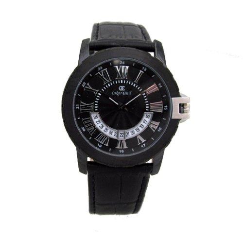 Oskar Emil antibes - Reloj analógico de cuarzo para hombre, correa de acero inoxidable color negro