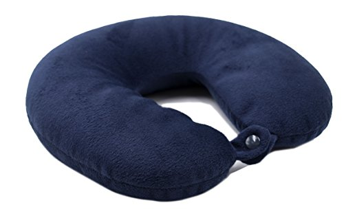 ZOLLNER Nackenkissen Mikroperlen, ergonomisch, 31x30 cm, blau, Druckknopf