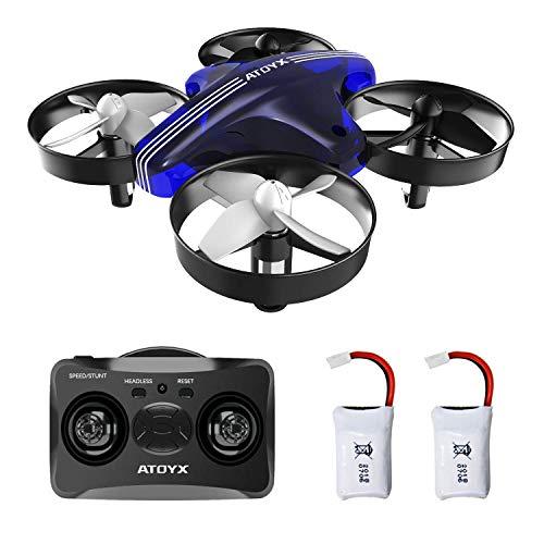 ATOYX AT-66 Mini Drohne, RC Quadrocopter Kopflos Modus Stabiler Flug Helicopter Ferngesteuert Mit Spielzeug Drone für Anfänger und Kinder (Blau)