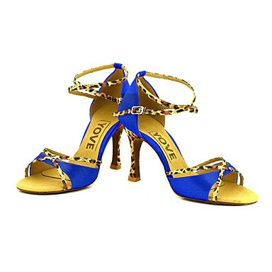 Zapatos De Baile-personalizables-mujeres-latin-american Dance / Custom-heel-satin-satin-black / Blue / Yellow / Pink / Purple / Red Almond