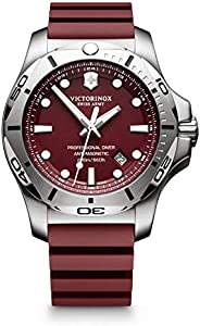 Victorinox Swiss Army Mens Quartz Watch, Analog Display and Rubber Strap - 241736