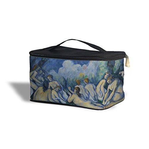 Cezanne – Grandes Baigneuses Art Peinture Étui de rangement cosmétiques maquillage Fermeture Éclair Sac de voyage, bleu, One Size Cosmetics Storage Case