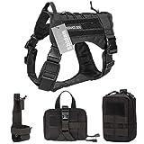 Shidan Taktische Service Hundeweste Militär Patrol K9 Molle Harness mit Abnehmbaren Taschen
