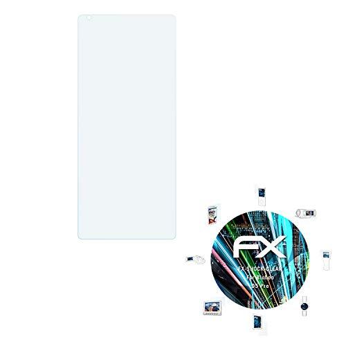 atFolix Schutzfolie kompatibel mit Bluboo D5 Pro Panzerfolie, ultraklare & stoßdämpfende FX Folie (3X)