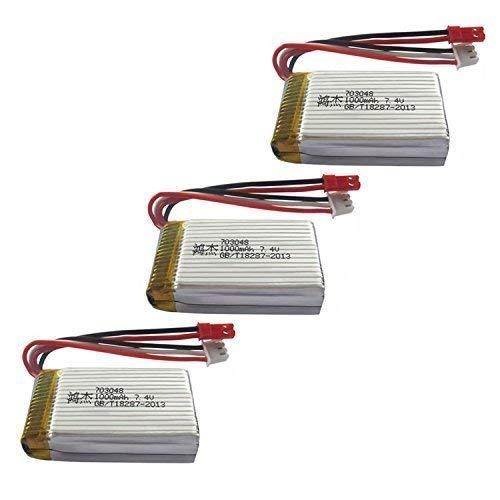 YUNIQUE ITALIA® 3 Pezzi Batteria Lipo Ricaricabile (7.4V 700mAh) per Rc Drone Quadricottero MJX X600