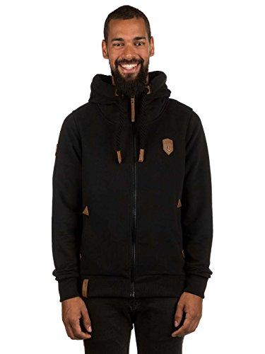 Naketano Male Zipped Jacket Schwarzkopf IV Black