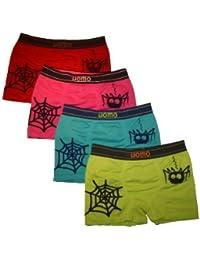 4 Pack Jungen Kinder UOMO Boxershorts TOP QUALITÄT verschiedene FARBEN und MODELLE. Microfaser Unterhosen Shorts