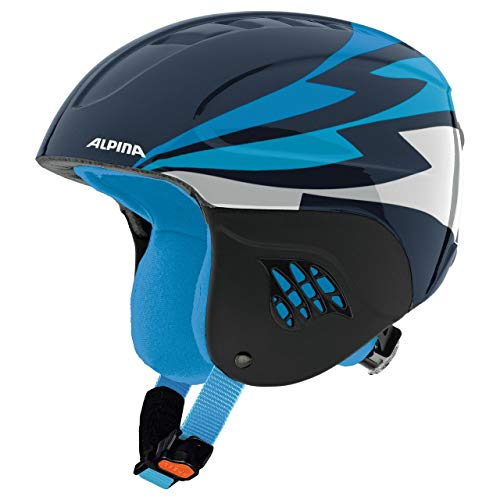 ALPINA Jungen Carat Skihelm, Nightblue, 54-58 cm