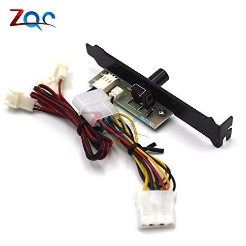 3 Kanäle PC Cooler Kühlung Ventilator Speed Controller für CPU Case HDD VGA-Ventilator mit PCI-Halterung-Leistung von 12V Molex IDE 4pin